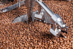 Coffee roasting machine. Modern machine for roasting coffee beans Stock Photography