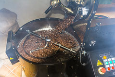 Coffee roasting in Panama Royalty Free Stock Image