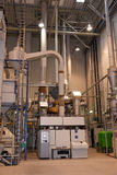 Coffee roasting plant. Shot in operation Royalty Free Stock Images