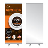 Coffee roll up  banner stand design Royalty Free Stock Photography