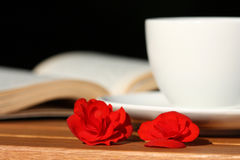 Coffee and roses Royalty Free Stock Photo