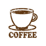 Coffee Rubber Stamp Royalty Free Stock Photo