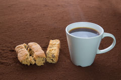 Coffee and rusks Stock Photos