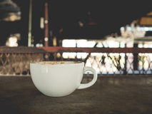 Coffee in rusty factory. Stock Images