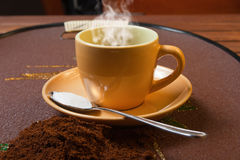 Coffee 's cup. A coffee's cup espresso, nero, hot Royalty Free Stock Photos