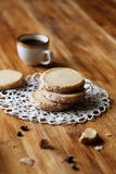 Coffee Sable - Shortbread Cookies Stock Images