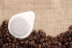 Coffee sachet Stock Image