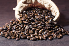 Coffee and sack Royalty Free Stock Images