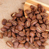 Coffee on sack Royalty Free Stock Photography