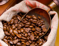 Coffee is in a sack Stock Photo
