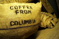 Coffee Sack. Coffee in a harbor warehouse royalty free stock image