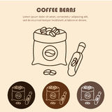 Coffee sack isolated icon vector illustration design. Coffee bag line icon Stock Photography