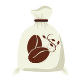 Coffee sack packing isolated icon Royalty Free Stock Images