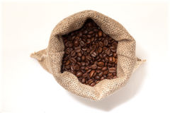 Coffee sack from the top Stock Photography