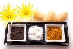 Coffee, Salt and Turmeric Scrub Stock Image
