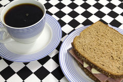 Coffee with sandwich Royalty Free Stock Image