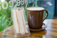 Coffee and sandwich Stock Photo