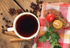 Coffee and sandwich Royalty Free Stock Photography