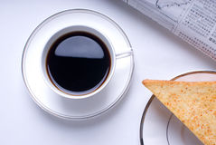 Coffee and Sandwiches. A new day begin from the Healthy Breakfast Stock Photos