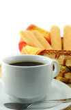Coffee and  savoiardi biscuits Stock Photos
