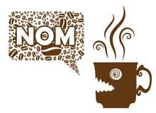 Coffee Says NOM Royalty Free Stock Image