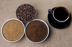 Coffee scalded and soluble Stock Image