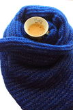 Coffee in a scarf Stock Image