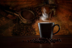 Coffee scene with coffee making equipment Royalty Free Stock Photos