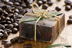 Coffee scented soap Stock Photo