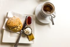 Coffee and scones royalty free stock photos