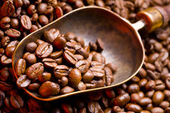 Coffee is in a scoop Royalty Free Stock Photography