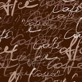 Coffee script pattern Stock Image