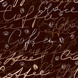 Coffee script pattern Royalty Free Stock Photo