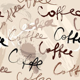 Coffee script pattern Royalty Free Stock Image