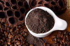 Coffee Scrub. Coffee skin scrub for spa Stock Photography