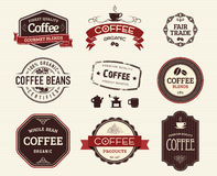 Coffee seals and stamps Stock Photos