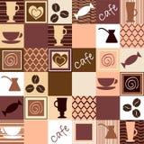 Coffee seamless Stock Photos
