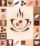 Coffee seamless Royalty Free Stock Photo