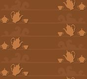 Coffee seamless background Stock Photography