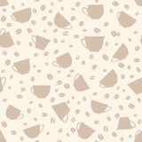 Coffee seamless background. Coffee cups seamless pattern. Stock Image