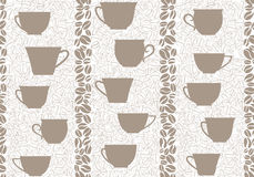 Coffee seamless background. Coffee cups seamless pattern. Royalty Free Stock Images