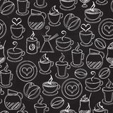 Coffee seamless background vector pattern Royalty Free Stock Photo