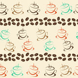 Coffee seamless background for your design Royalty Free Stock Photo