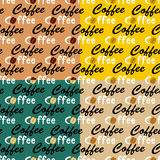 Coffee seamless backgrounds Vector Illustration