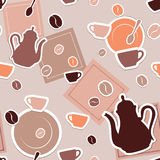 Coffee seamless Stock Images