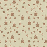 Coffee seamless pattern Stock Photography