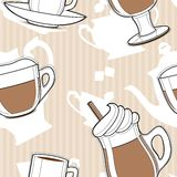 Coffee, seamless pattern Stock Photography