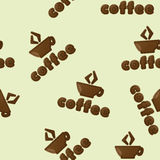 Coffee. seamless  pattern Stock Image