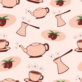 Coffee seamless pattern Royalty Free Stock Images