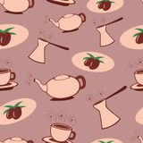 Coffee seamless pattern Royalty Free Stock Photography